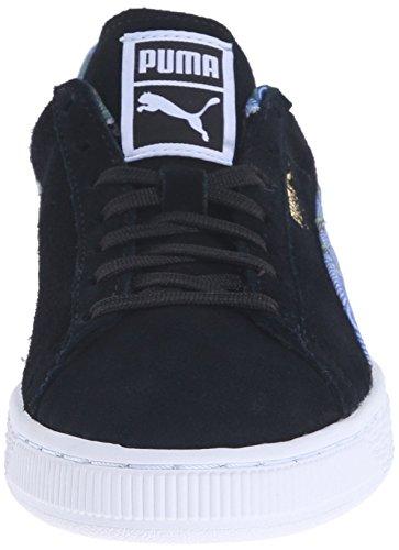 Classic Flourish PUMA Black Sneaker Style WN'S Classic Suede Women's White qWt1tUX