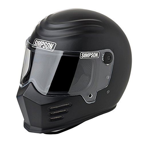 Simpson 28215XL8 Outlaw Bandit Helmet (MXl M. Black)
