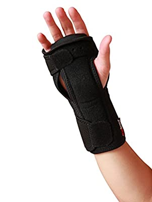 AidBrace Night Wrist Carpal Tunnel Support Brace - Cushioned to Help Relieve and Treat Wrist Pain