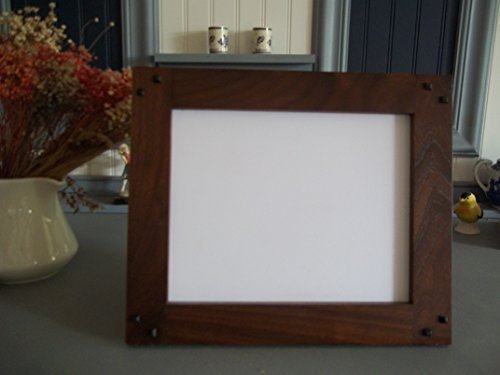 """Mission Style 8"""" X 10"""" Solid Black Walnut """"Landscape """" Arts & Craft Frame Handcrafted/Handmade from Augie's Woodworking"""