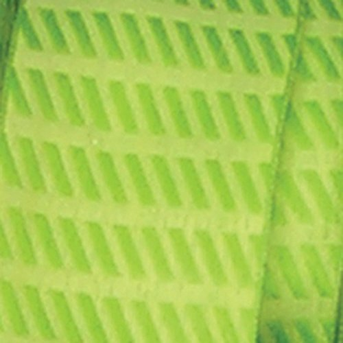 Small Green Diagonal Stripes Woven Taffeta Wired Craft Ribbon .875