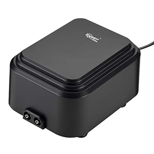 Hygger 10W 16LPM Powerful Aquarium Air Pump with 2 Outlets, Energy Saving Adjustable Quiet Dual Fish Tank Oxygen Pump Aerator Bubbler for 75-600 Gallon Tank from Hygger