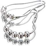Premium Easy Roll Lot de 12 anneaux de fixation en acier inoxydable pour rideau de douche