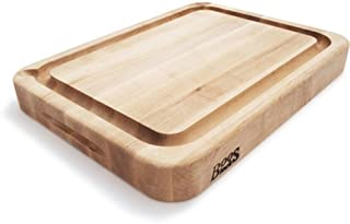 product image for John Boos & Co. Deep-Groove Maple Board with Pouring Spout RAD02-GRV-S