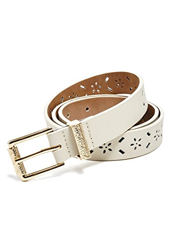 GUESS Women's Laser-Cut Faux-Leather Belt