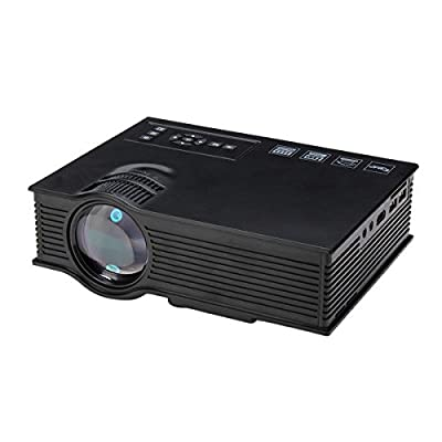 C&C Products UC40+ Mini LED Projector Black Home Cinema HD 800LM AV HDMI USB SD by C&C Products