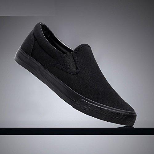 stoffa uomo da nere Scarpe uomo scarpe di uomo pedali WFL da uomo tela nero scarpe completamente scarpe casual da da scarpe uomo da pigre di qBxA1twAO