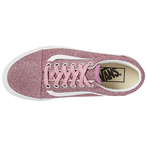 Skool UA True Old Pink Adult Lurex Vans Trainers Glitter Silver wq4wdE