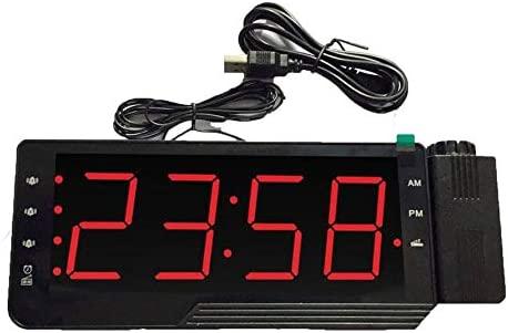 Ningbao Radio Digital Reloj Despertador Proyección Pantalla LED ...