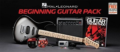 Hal Leonard HL Gtr Pkg Beginning Guitar Pack Includes Guitar/Amp/Case/Chord/Picks/Books/DVD/Poster