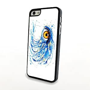 Simple Summer Pure Style Carrying Case for Girl Blue Charming Eyes Iphone 5/5s Cover Plastic Shell Hard Protector Matte - Clear Print and Thin