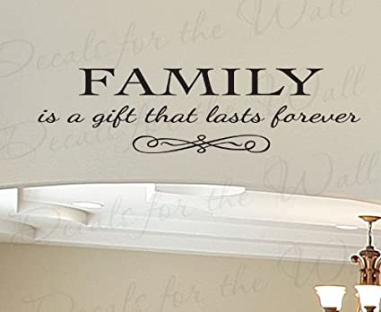 Lettering Decoration Family is a Gift Lasts Forever Large Wall Decal Love Home Sticker Decor Art Mural Vinyl Quote Saying