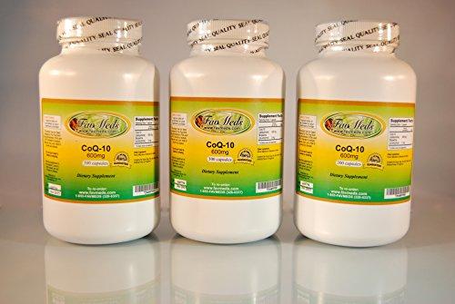 CoQ-10 Q10 coq10 co-enzyme 600mg - 900 (3x300) Capsules by Favmedsusa