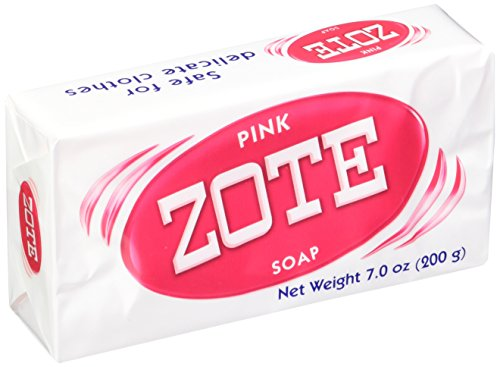 Zote Laundry Soap Bar Pink 4 Bars 7.0 Ounce Each by Zote
