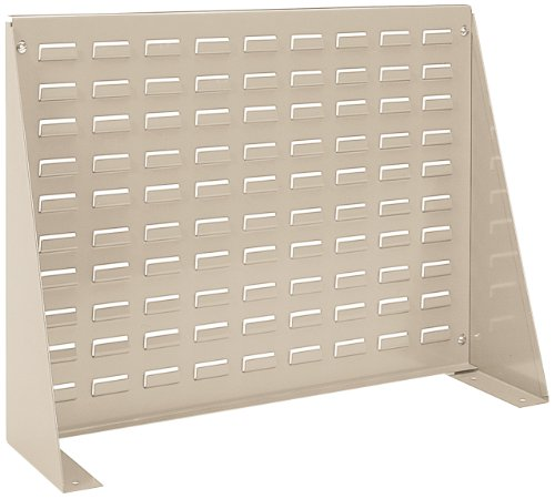 Akro-Mils 98600 Louvered Steel Panel Bench Rack for Mounting AkroBins, 28-Inch L by 20-Inch H by 8-1/2-Inch W, Beige