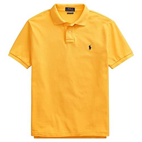 Polo Ralph Lauren Classic Fit Mesh Pony Logo Polo Shirt (M, - Classic Shirt Fit Lauren Ralph