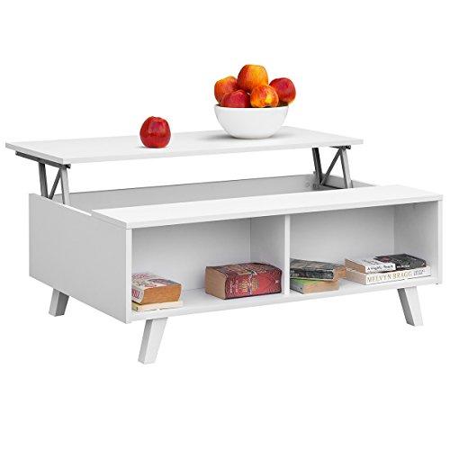 Comifort mesa de centro elevable moderna mesita de caf comedor o blanco ebay - Mesita de comedor ...