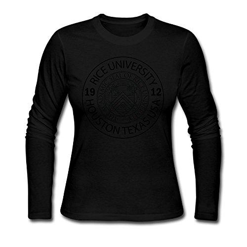 Women's O Neck Rice University EST. 1912 Houston Texas United States Long Sleeve T-Shirt -