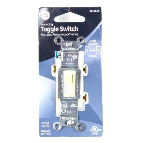 GE 15 Amp 120 Volt 3 Way Household Toggle Switch - Ivory - ()