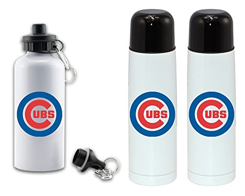 visualize master Double sided disigns cubs sports water bottle - High grade vacuum flask 18/8 stainless bottle - 500 ML