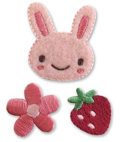 Pioneer Little applique rabbit, strawberry flowers R315-35354
