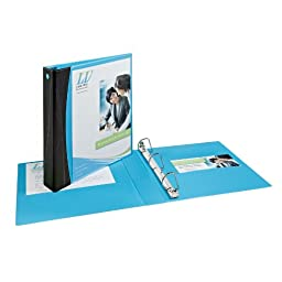 Avery Comfort Touch View Binder with 1.5-Inch EZ-Turn Ring, Holds 8.5 x 11 Inches Paper, Aqua (17411)