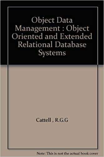Téléchargez amazon ebooks gratuitementObject Data Management : Object Oriented and Extended Relational Database Systems by R.G.G Cattell  PDF