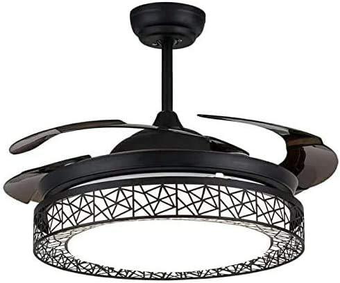 LDDYJH Ventilador de Techo con iluminación y Control Remoto ...