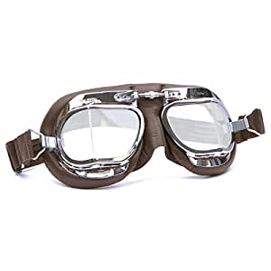 Amazon.com: HDM Productos MK49 Cuero Motocicleta anteojos ...