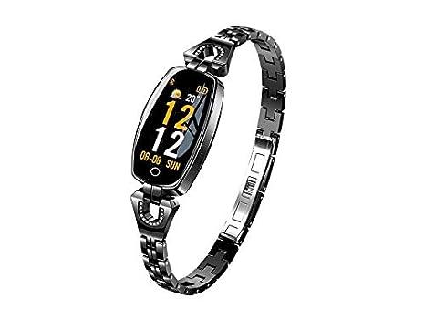 CQSMOO Relojes Inteligentes Pulsera Inteligente H8 Mensaje Pulsación de Ritmo cardíaco y Seguimiento de Actividad Vigilancia