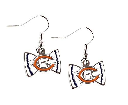 Bow Tie Logo Dangle Earrings (NFL Chicago Bears Bow Tie Earring Dangle)