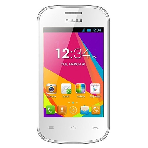 BLU Dash JR W D141w Unlocked GSM Dual-SIM Android Cell Phone - White (Telefono Samsung compare prices)