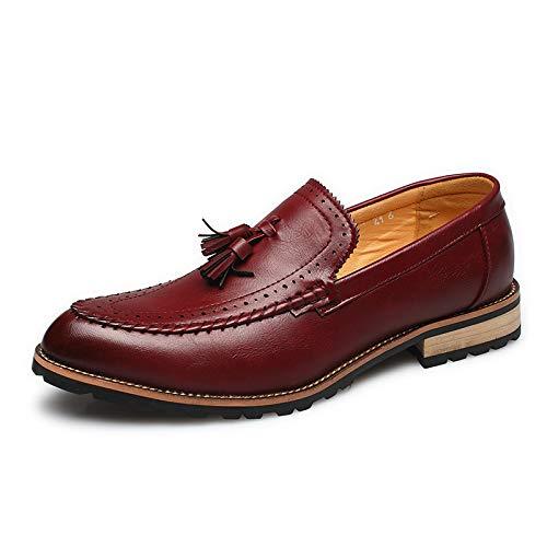 Transpirable Borla Hombre Pedal Calzado Casual Moda Años Estilista Red Zapatos De Un 18 Lovdram qg0xAXg
