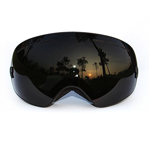 Snow Goggles, COPOZZ Ski Goggles with Spherical Wide Vision Anti-fog Magnet Detachable Double Lens TPU Frame For Men And Women Snowboard skate Mountain Climbing Sport