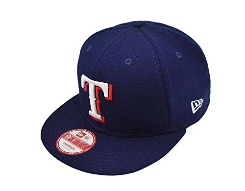 New Era 9fifty Men's Snapback Texas Rangers Hat Cap Royal Blue Major (M/L)