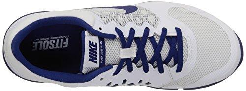 Nike Flex Experience RN 4 Laufschuh Weiß / tiefes Königsblau