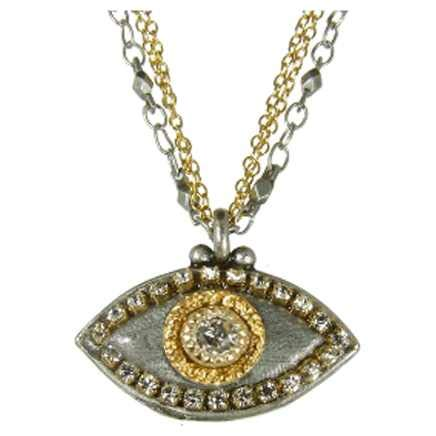 Michal Golan Crystal Evil Eye Necklace