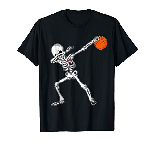 Dabbing Skeleton Basketball Funny Halloween TShirt Dab