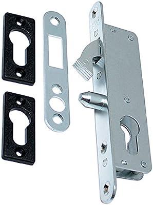 Gancho con cierre Caja de cerradura para puerta corredera de cierre de 35 corrediza con placa: Amazon.es: Bricolaje y herramientas