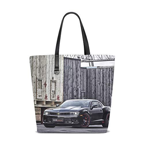 Chevrolet Handbag - Gme Exclusive Sports Car Chevrolet Camaro Ss Tote Bag Purse Handbag For Women Girls