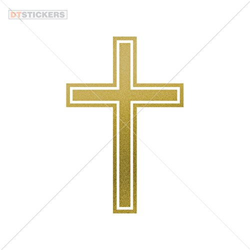 - Vinyl Sticker Decal Cross Symbol Atv Car Garage bike (8 X 5,31 In. ) Matte Metallic Gold