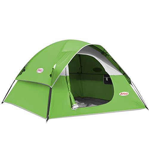 MKeep 2-3 Person Tent - Tents for Camping, Waterproof Windproof Backpacking Tent, Easy Set up Small Lightweight Tents, for All Seasons Hiking Beach Outdoor with 3 Mesh Windows