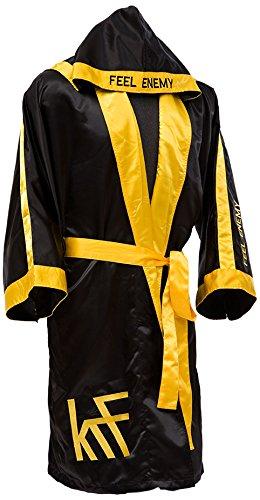 KRF Feel The Enemy 0013301 Bata Competición de Boxeo, Hombre, Negro, XL: Amazon.es: Deportes y aire libre
