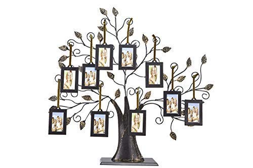 Klikel Family Tree Picture Frame Display with 10 Hanging Picture Photo Frames | Large 20 x 18 Metal Tree | 10 Ornamental 2x3 Frames by Klikel (Image #4)