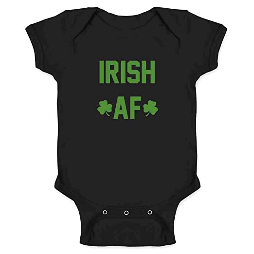 07fc70a5e Amazon.com: Irish AF St. Patrick's Day Funny Infant Bodysuit: Clothing