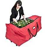 Santas Bags SB-10187, 9 Foot Rolling Tree Bag with 3-Side Top Opening, Extra Large