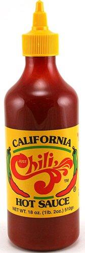 Just Chili California Hot Sauce, 18-ounce Bottle (1 bottle)