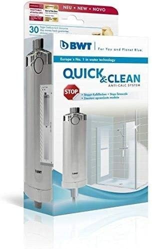 einer Filterkartusche BWT Quick /& Clean Antikalk-Filtersystem Duschfilter inkl