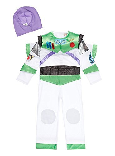 Buzz Lightyear Costume Helmet (Officially Licensed Disney Pixar Toy Story Buzz Lightyear fancy dress Ages 3-4 & 5-6 years Boys costume with Wings & soft Helmet, Made by Disney Toy Story for TU Collection (3-4 years) by TU)