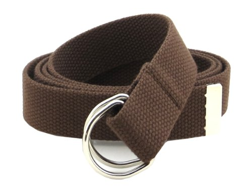 Canvas Cotton Belt (Thin Web Belt Double D-Ring Buckle 1.25